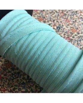 Tittekant bomuld - pastel turkis