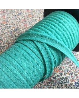 Tittekant bomuld - turkisgrøn