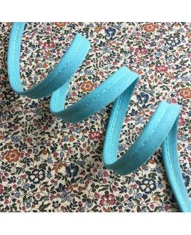 Tittekant bomuld - azur blå