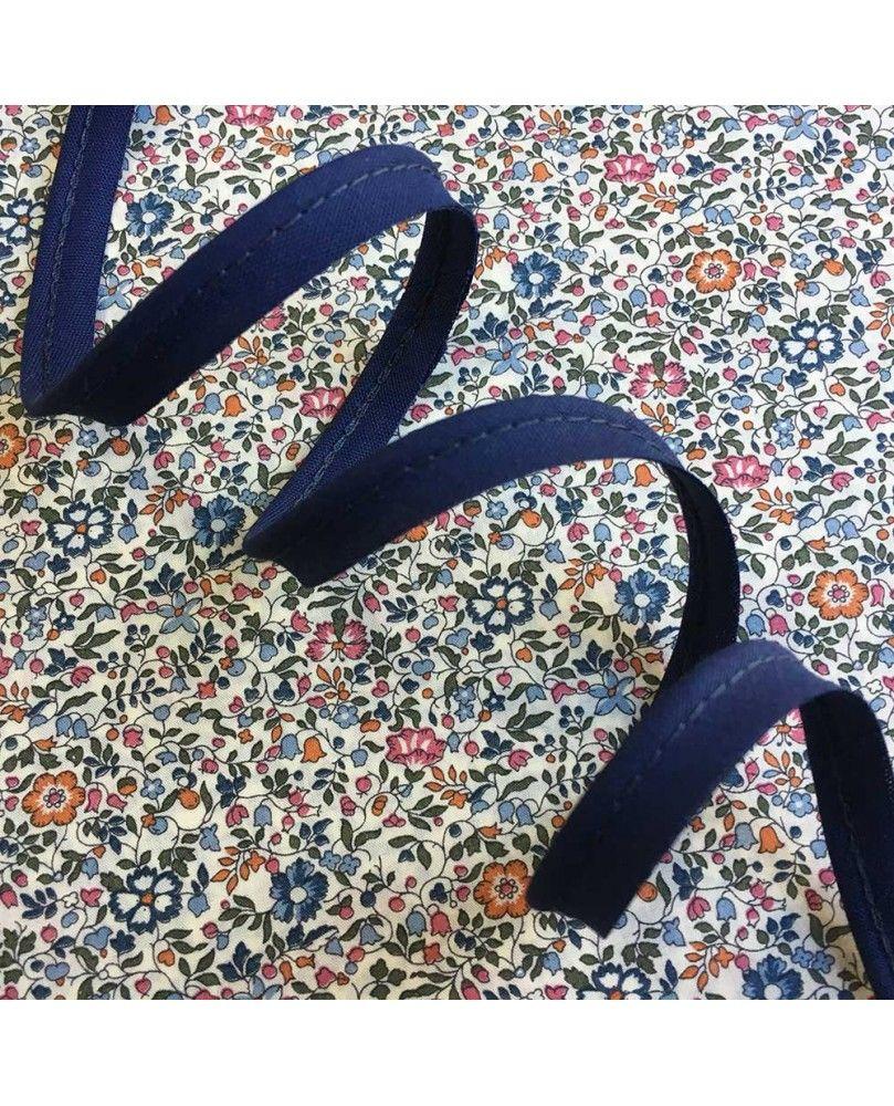 Tittekant bomuld - mørkeblå