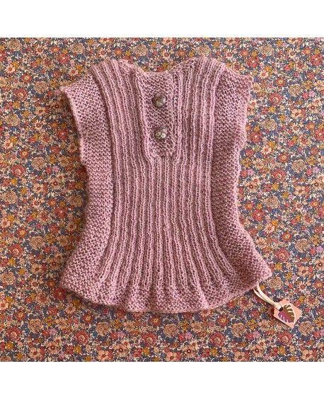 Babyvest strikket - 1 år