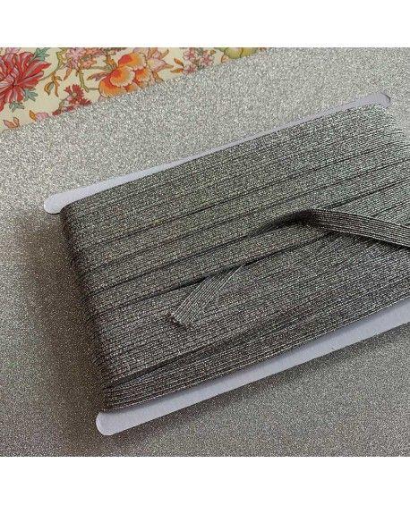 Sølv elastik 9 mm