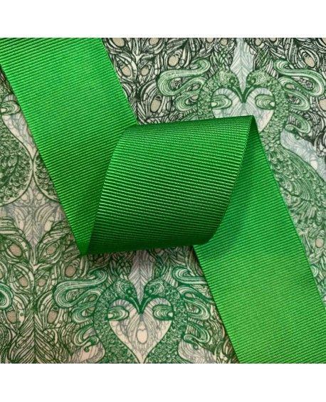Grosgrain bånd 38mm grøn