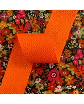 Grosgrain bånd 38mm - Neonorange