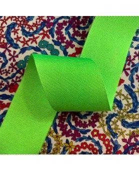 Grosgrain bånd 38mm - Neongrøn