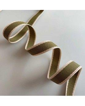 Vævet bånd - 12mm - Oliven
