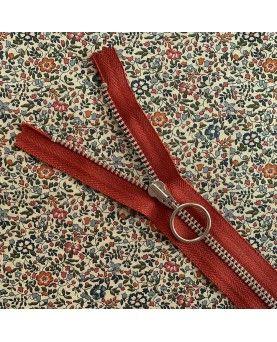 Lynlås YKK med ring - 25cm rust