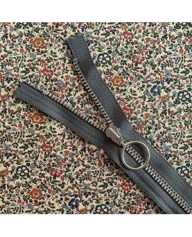 Lynlås YKK med ring - 25cm grå