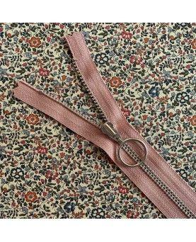 Lynlås YKK med ring - 25cm gammel rosa