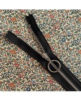 Lynlås YKK med ring - 25cm sort