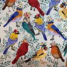 Stof - Birdie Collection by Mia Charro - offwhite