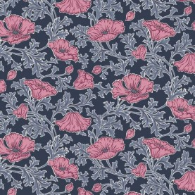 Liberty Quilting Stof fabrics Beatrice Poppy 04775731A