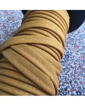 Tittekant bomuld - mustard