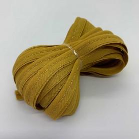 Tittekant bomuld bånd mustard 5 meter