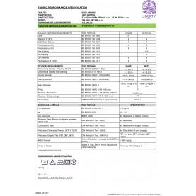 Liberty specification sheet Liberty stof varedeklaration
