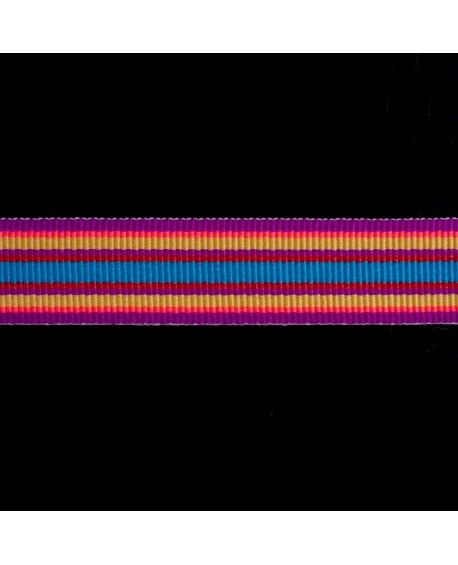 Stribet grosgrain bånd 15mm