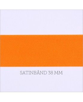 Satinbånd neon orange 38mm