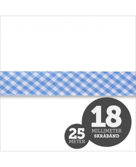 Skråbånd Tern Lyseblå 1rl/25m