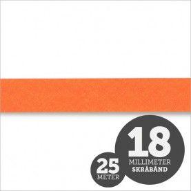 Skråbånd neon orange 1rl/25m