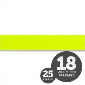 Skråbånd neon gul 1rl/25m