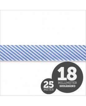 Skråbånd Strib Blå 1rl/25m