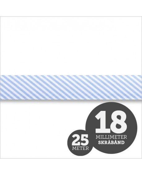 Skråbånd Strib Lyseblå 1rl/25m