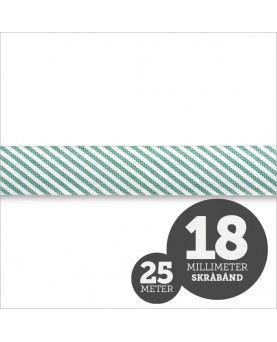 Skråbånd Strib Grøn 1rl/25m