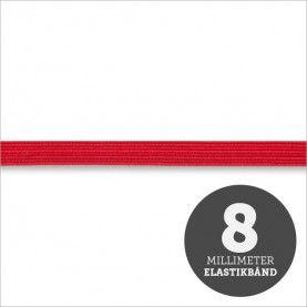 Elastikbånd rød 8mm