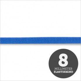Elastikbånd blå 8mm