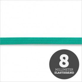 Elastikbånd grøn 8mm