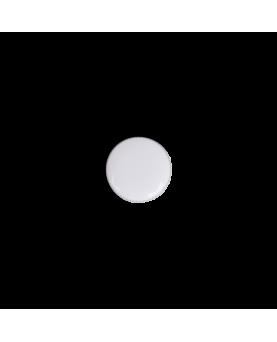 Knapper metal hvid/sølv 13mm