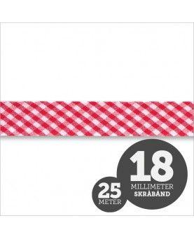Skråbånd Tern Rød 1 rl/25m