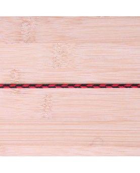Anoraksnor - rød og sort 3mm