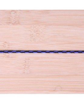 Anoraksnor - blå og sort 3mm