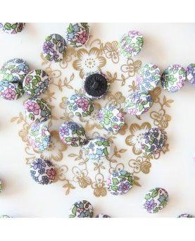 Stofknapper Liberty Emilias flowers 15mm