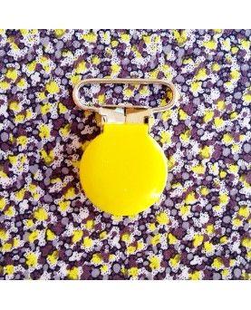 Seleclips rund gul