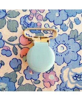 Seleclips rund lyseblå