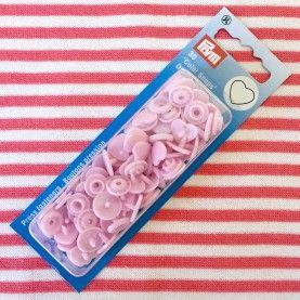 Plast trykknapper - lyserød