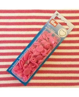 Plast trykknapper - Pink