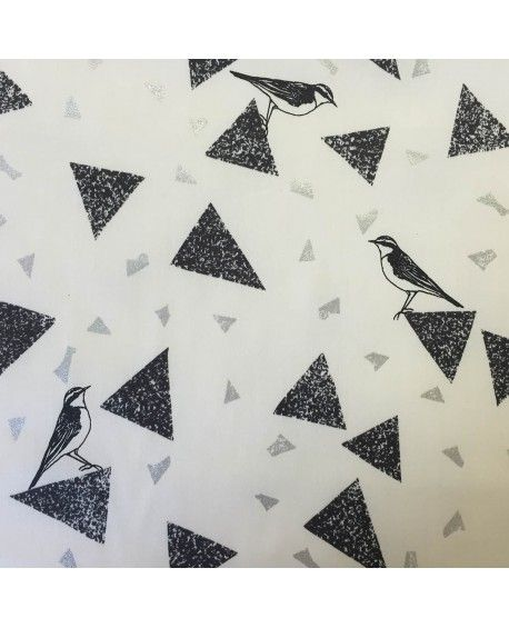 Grafisk med trekanter og fugle - Kokka