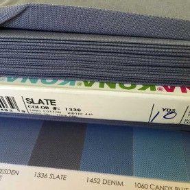 Ensfarvet bomuld Slate