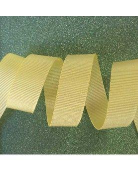 Grosgrain bånd Lysegul 15mm