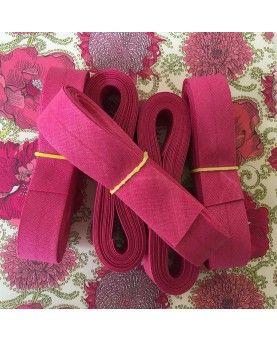 Skråbånd pink - 3 meter