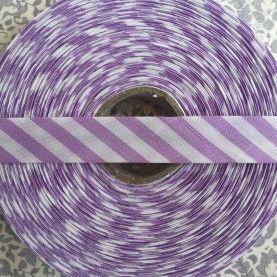 Skråbånd bred stribe - lilla - 1 rulle