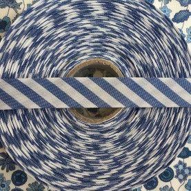 Skråbånd bred stribe - blå - 1 rulle