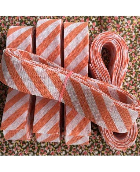 Skråbånd bred stribe - orange - 3 meter