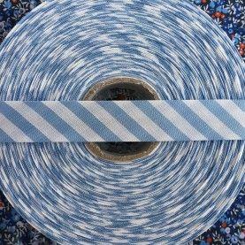 Skråbånd bred stribe - Lyseblå - 1 rulle