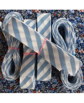 Skråbånd bred stribe - Lyseblå - 3 meter