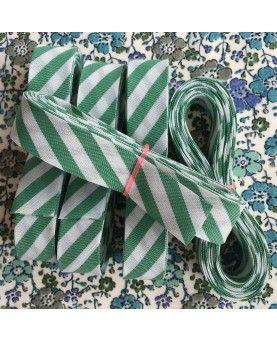 Skråbånd bred stribe - Grøn - 3 meter