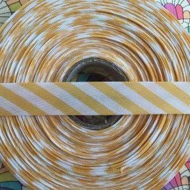 Skråbånd bred stribe - Gul - 1 rulle